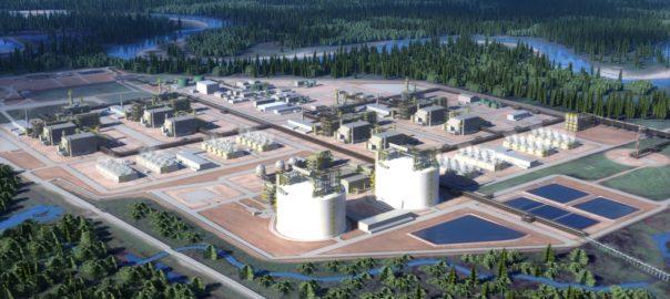 rendering of Kitimat LNG terminal